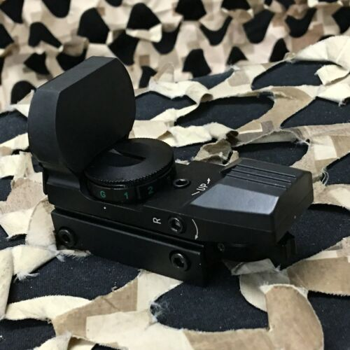 NEW Warrior Paintball Deluxe Red/Green Dot Sight with 4 Reticles