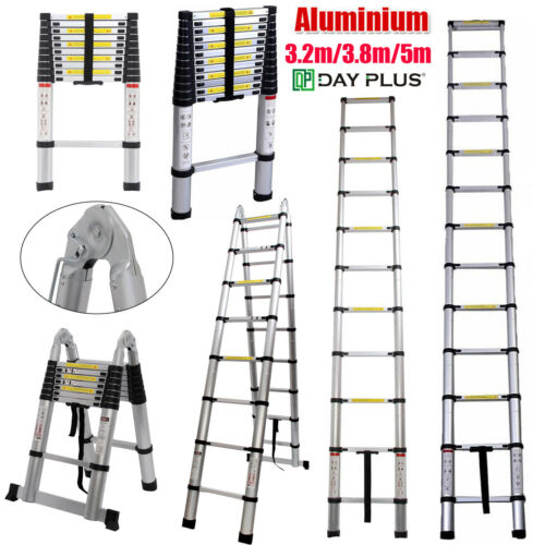 Collapsible Telescopic Ladder Loft Roof Step Ladder Foldable
