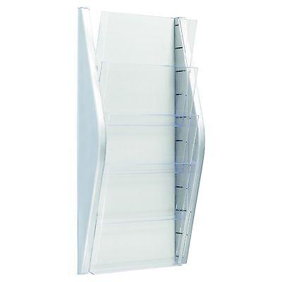 Wand-Prospekthalter Kartenhalter Zeitschriftenhalter 4 x DIN A4 - NEU NEU