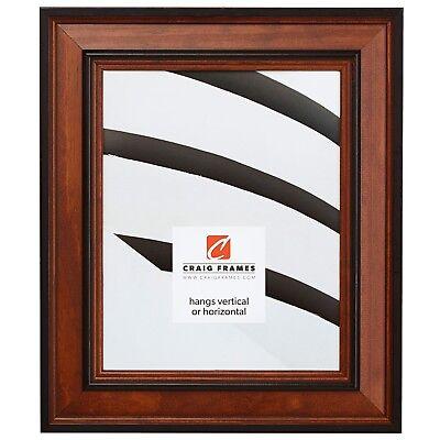 Craig Frames Prairie Classic, Country Brown Solid Wood Picture Frame, With (Brown Solid Wood Frame)