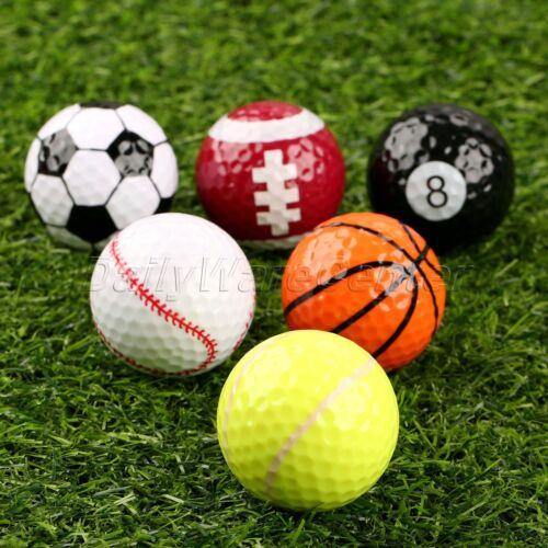6 assorted golf balls indoor outdoor training