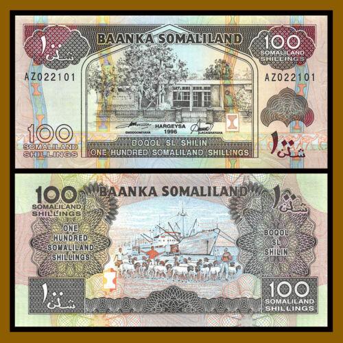 Somaliland 100 Shillings (Shilin) 1996, P-5b Ship Unc