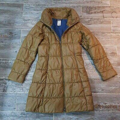 "Patagonia ""Lidia"" LONG Parka Coat jacket  platinum vintage gold color SZ SMALL"
