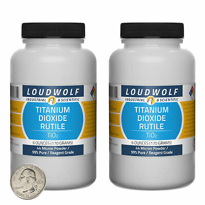 Titanium Dioxide Rutile 12 Oz 2 Bottles 99 Reagent Grade