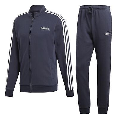 adidas Tracksuit Cotton Relax Herren Trainingsanzug legend ink/white - White Suite