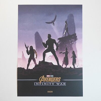 Avengers: Infinity War Poster Captain America Winter Soldier Shuri Marvel A4
