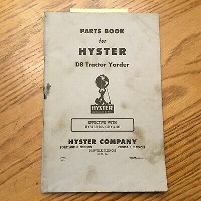 Hyster D8 Tractor Yarder Winch Parts Book Install Lube Manual Service Guide Cat