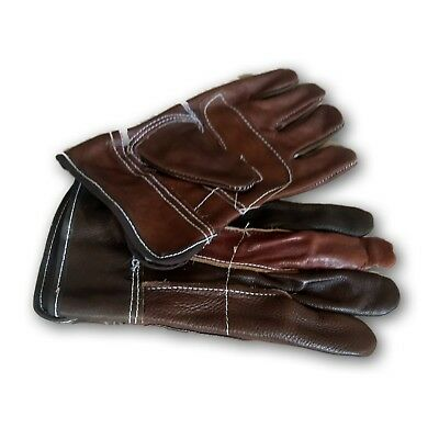 Premium Cowhide Leather Work Gloves Size Medium