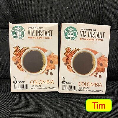 3/21 Starbucks VIA Colombia Instant Medium Roast Coffee - 26 Packets (2X13 CT.)