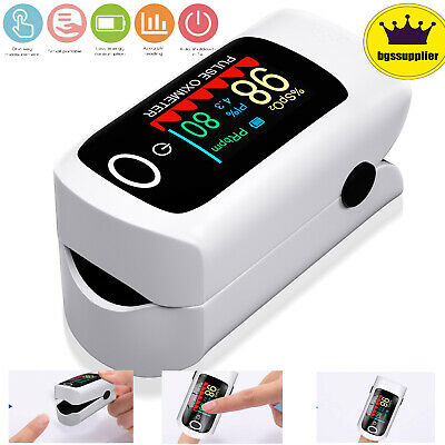 Finger Pulse Oximeter Blood Oxygen Spo2 Respiratory Heart Rate Monitor Machine