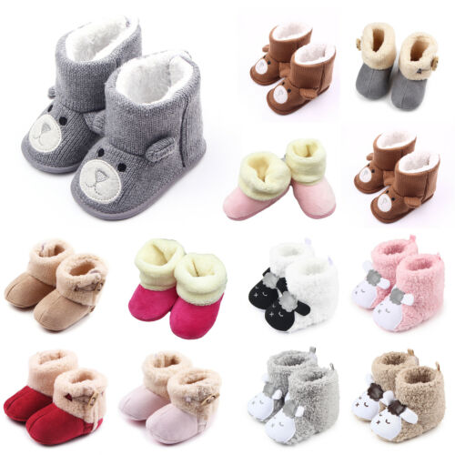 Krabbelschuhe Baby Mädchen Jungen Stiefeletten Stiefel Warm Krippe Schuhe Boots