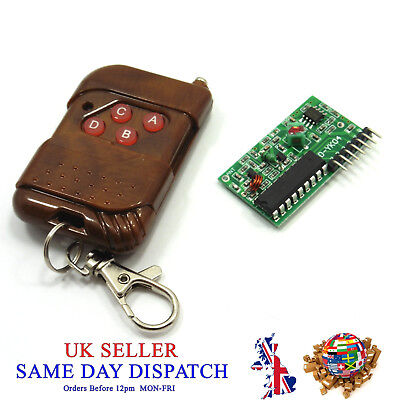 315MHz 4 CH Remote Control and Wireless Receiver Module IC 2262/2272 Chanel