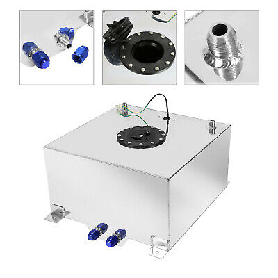 Polished Aluminum OEM Fuel Cell Tank & Sender Hot Rod Rat V8 10 Gallon
