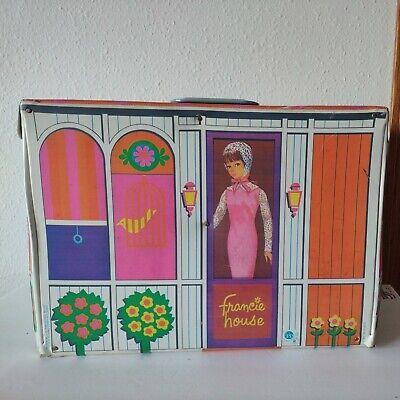 VTG Mattel Barbie Doll MOD-ern Cousin Francie House Carrying Case Furniture 1965