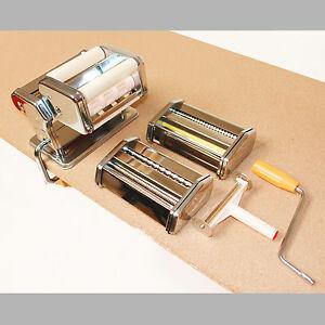 Edelstahl Pasta Maschine  Nudel Maschine  Teig selbst machen 3 Aufsätze 915850
