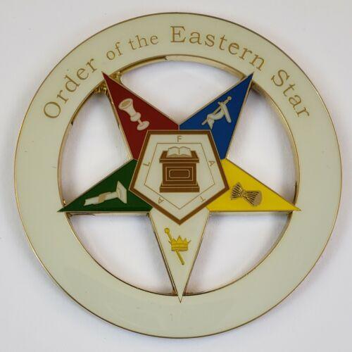 Auto Emblem OES Order of the Eastern Star Metal Enamel Freemason Mason Masonic