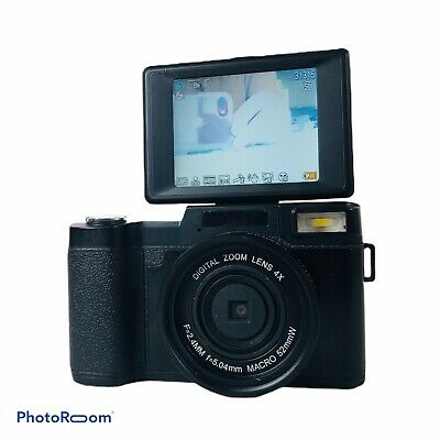 "24MP Digital Vlogging Camera 1080P HD 3.0"" LCD Flip Screen Retractable LED Light"