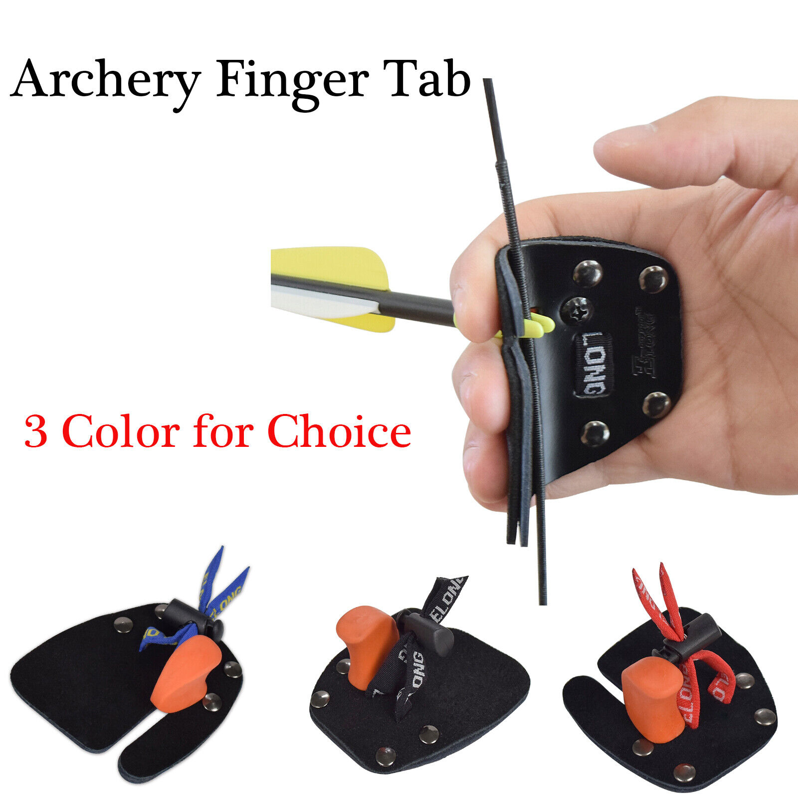 4 x Premium Archery Protective Gear Hunting Finger Protector 3 Under Tabs