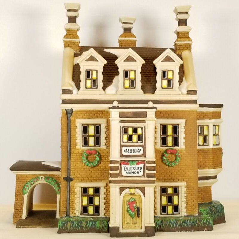 Dept 56 Dickens Village Series DURSLEY MANOR #58329 1995 Retired 1999 NEW/OTHER