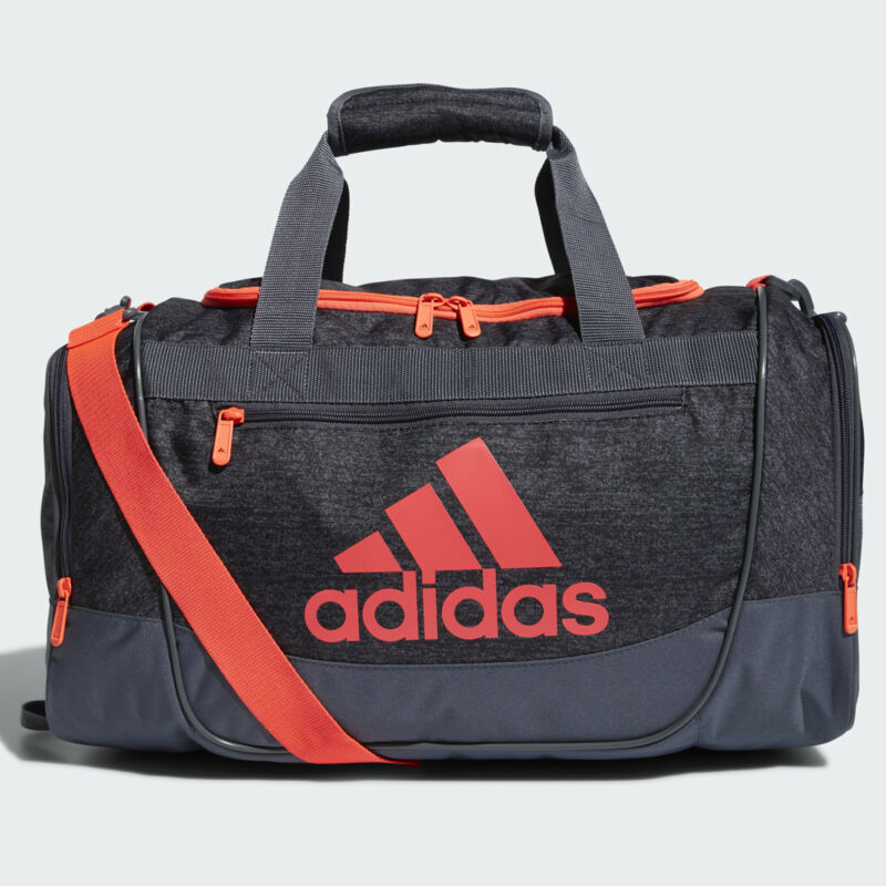 Adidas Defender III Small Duffel Bag - Dark Grey-Crimson