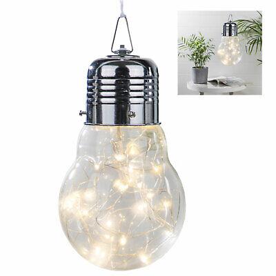 Deko Glühbirne Glühlampe mit30 LED Lichterkette Glühbirne Lampe LED Beleuchtung
