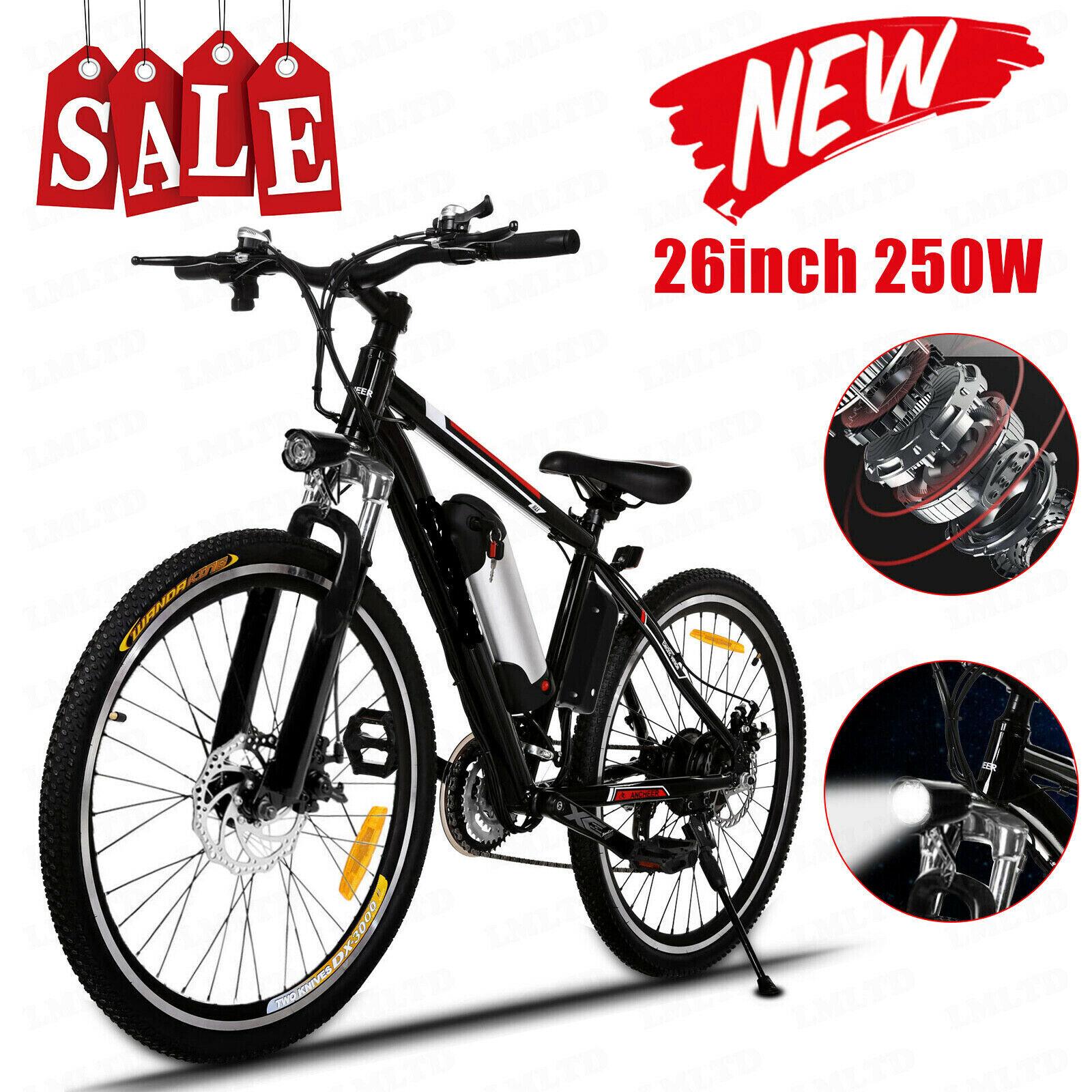 Ancheer Elektrofahrrad 26 zoll Mountainbike Bergfahrrad E-Bike Shimano Pedelec