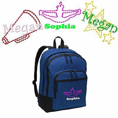 Personalized Megaphone/Cheer/Stars School Backpack | Embroidered - Personalized Cheer Megaphones