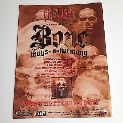 BONE THUGS N HARMONY Original Magazine Advertisement Mini Poster Rare!