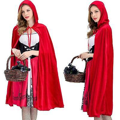 Red Riding Hood Capes (Women Halloween Little Red Riding Hood Cape Cloak Fancy Party Cosplay)
