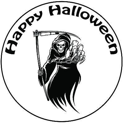 Halloween Grim Reaper Cake Topper Easy Pre-cut Round 8