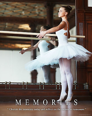 Ballet Dance Motivational Poster Art Print Shoes Flats Tutu Leotard Skirt Mvp251