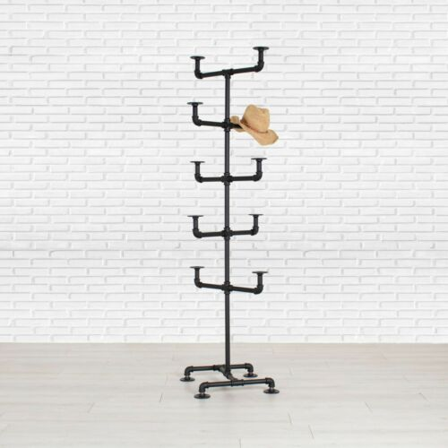 Industrial Pipe Hat Rack Display Stand by William Robert