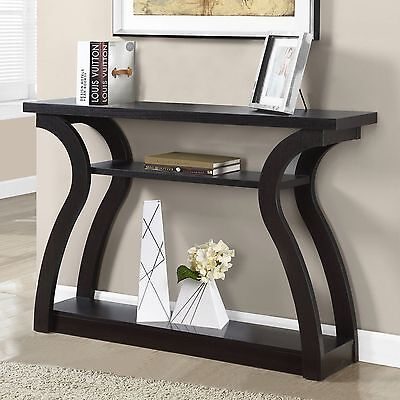 Console Table Modern Brown Wood Entryway Hallway Sofa Furniture Storage Shelves