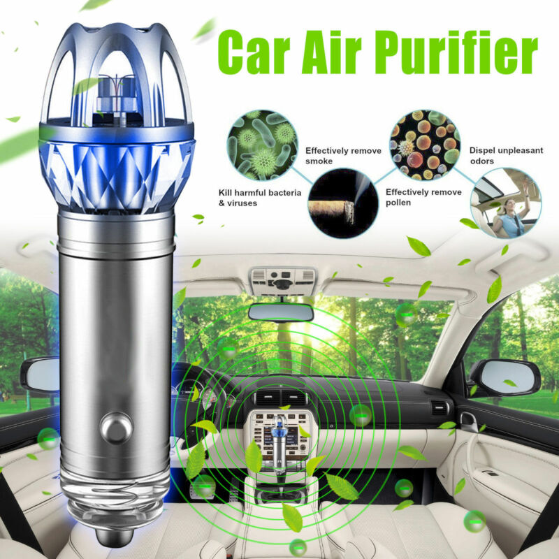 2020 Car Air Purifier Ionic Freshener Remove Dust Pollen Bad Odors Air Cleaner