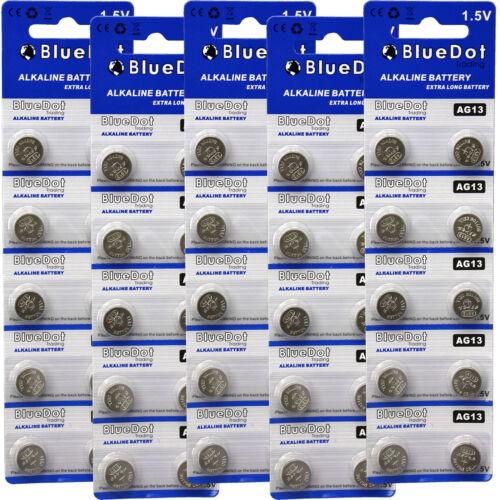 50 X AG13 LR44 LR1154 SR44 A76 357A 303 357 Alkaline Coin Cell Button Battery