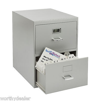 Mini Filing Cabinet Business Address Card Holder file Desktop index storage A-Z