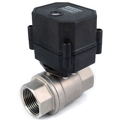 1 Npt Motorized Ball Valve Stainless Steel Epdm 9 12v To 24v Ac Dc 3-wire