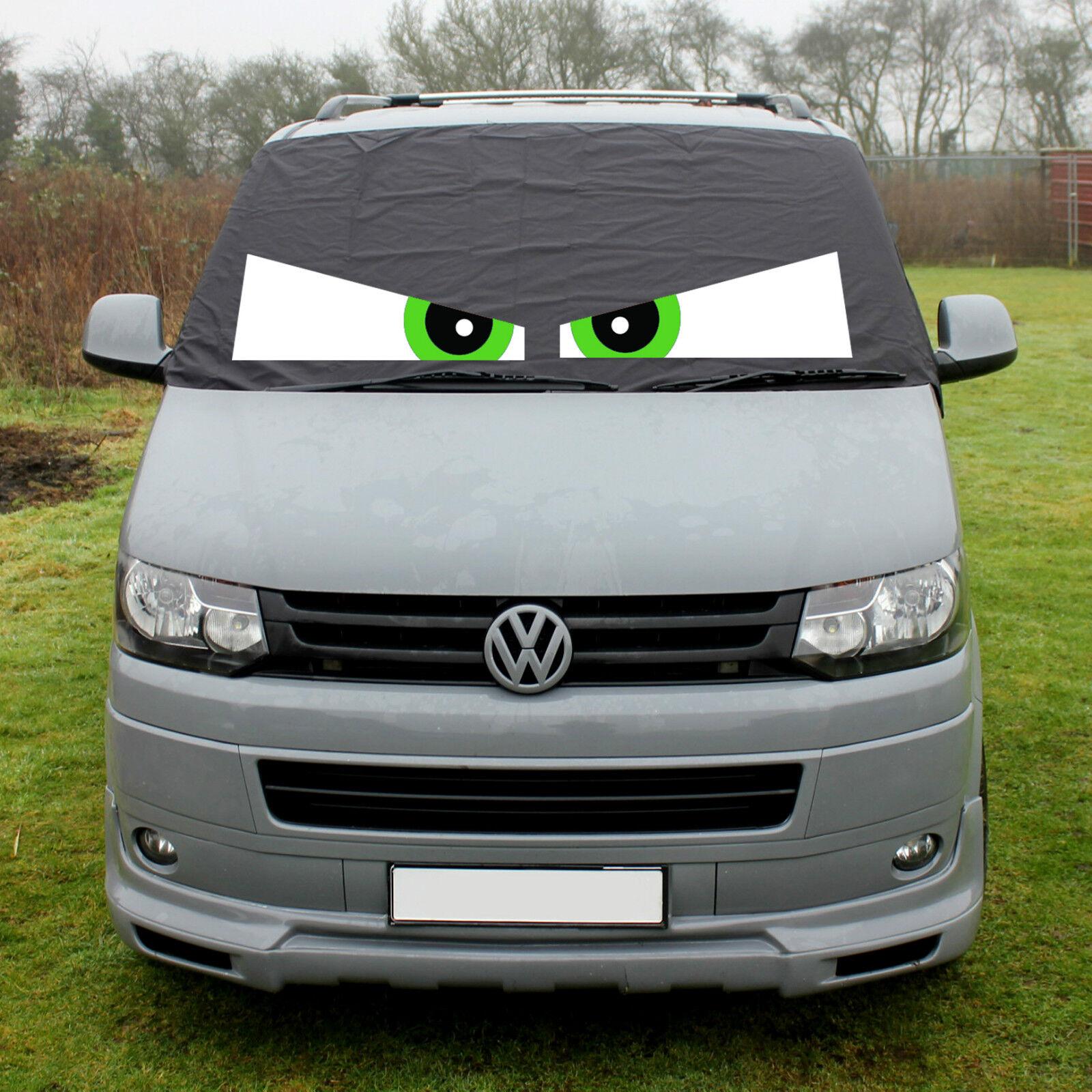 VW Transporter T5 Fenster Displayschutzfolie Vorhang Bezüge Frost Blinde Augen