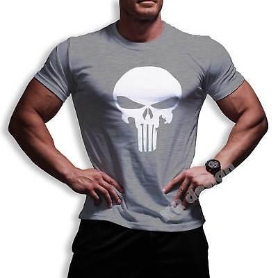 Punisher T-Shirt Marvel Comic Bodybuilding Training Crossfit Fitnessstudio