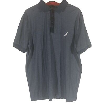 Nautica Mens Classic Fit Polo Shirt Size XL  Blue Short Sleeve MSRP $49
