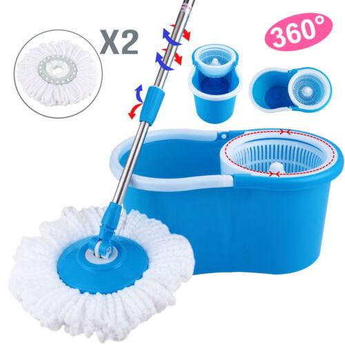 Купить Unbranded BLL-19A - 360°Microfiber Magic Mop W/Bucket 2 Heads Rotating Easy Spinning Floor Mop New