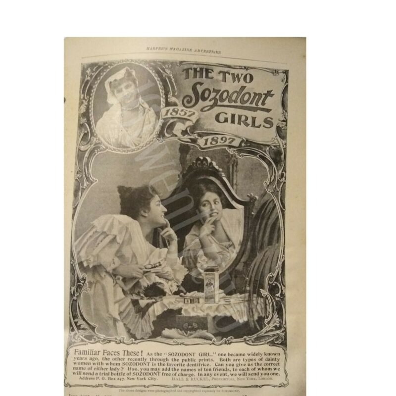 1897 Sozodont Magazine Ad and content. Rare