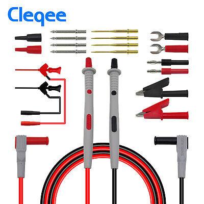 21in1 Multimeter Test Lead Kit For Fluke Electrical Alligator Clip Test Probe