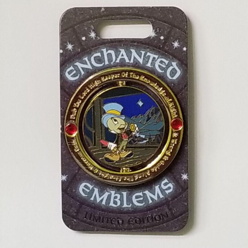 Disney Parks Enchanted Emblems Jiminy Cricket Spinner Pin Limited Edition 3000
