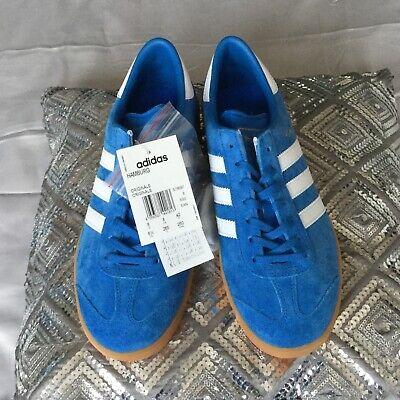 Adidas Hamburg Trainers Blue/White UK8 New In Box