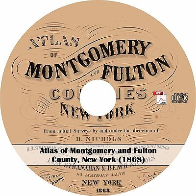1868 Atlas of Montgomery and Fulton County, New York - Plat Maps Book on CD