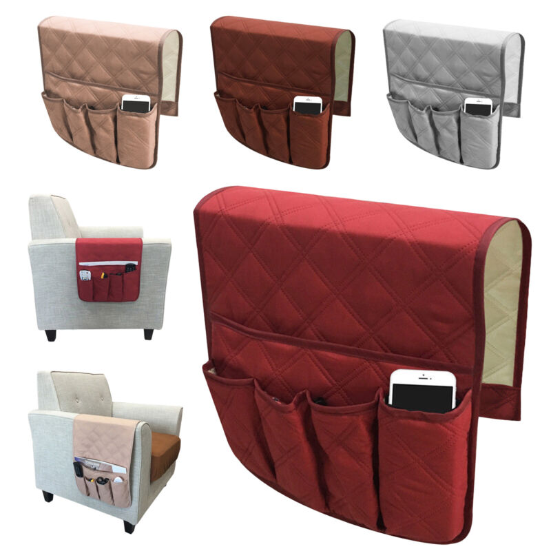 Armrest Organizer TV Remote Holder 5 Pocket Caddy for Couch Sofa Recliner Chair