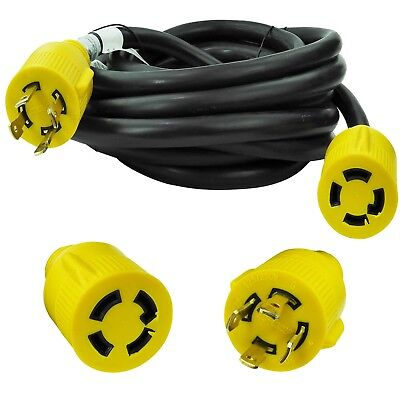 Leisure Cords NEMA L14-30 4 Prong Locking 30 Amp Generator Extension Cord, 25 ft