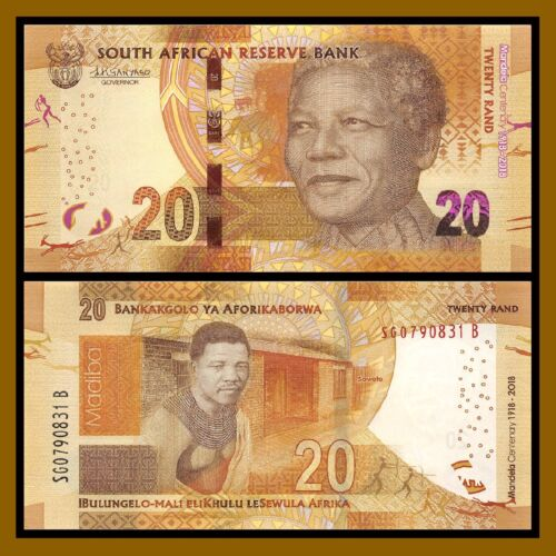 South Africa 20 Rand, 2018 P-New Young Mandela Centenary Comm. Unc