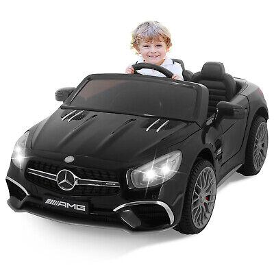 Black 12V Kids Ride On Car Mercedes W/Remote Control Battery Wheel Electric Car